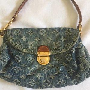 Louis Vuitton Mini Pleaty Denim Small Shoulder Bag